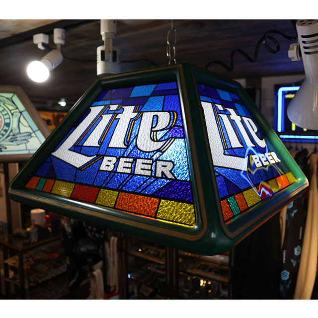 AN239 USED(中古) VINTAGE ANTIQUE MILLER BEER BAR POOL TABLE LAMP