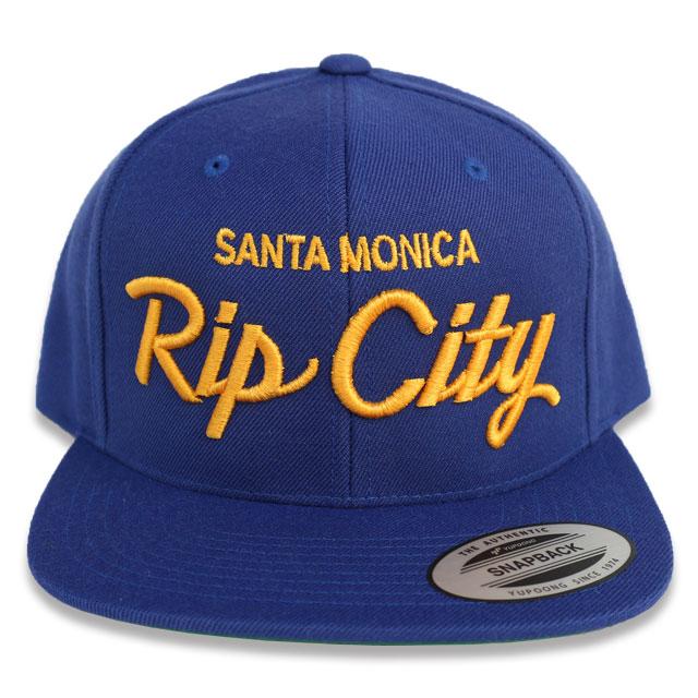 RIP CITY SKATES SNAP BACK CAP BLUE/GOLD