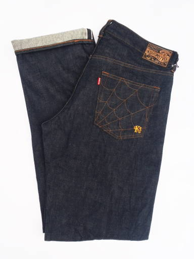 *定番商品* KUSTOMSTYLE KSDEN1208INESTSP -ESTANDAR- REGULAR FIT INDIGO JEANS SPIDER STITCH