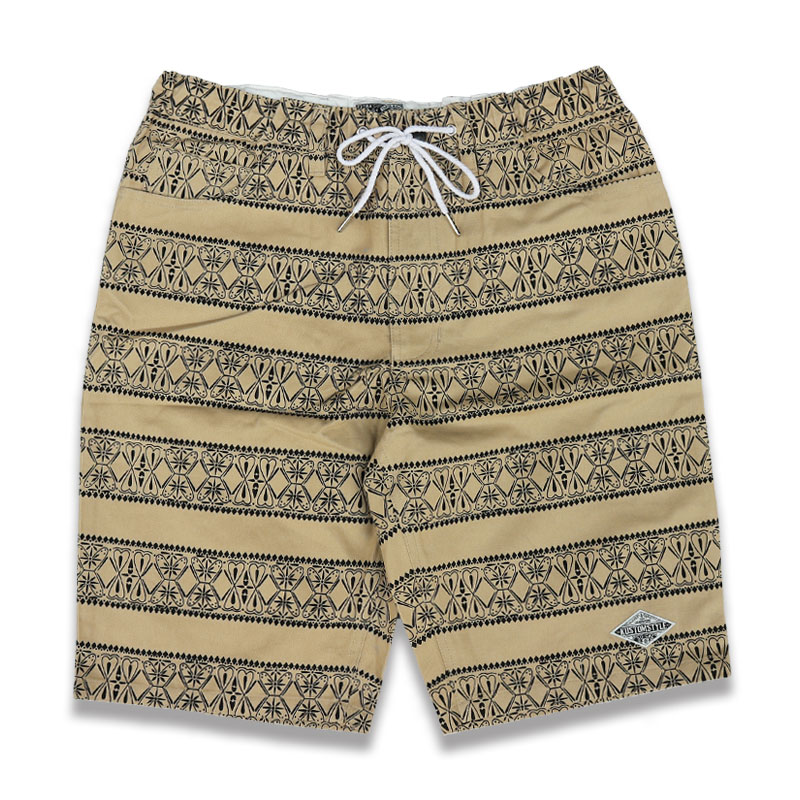 KUSTOMSTYLE KSSP1904KH BANDANA BORDER EASY SHORTS イージーショーツ KHAKI