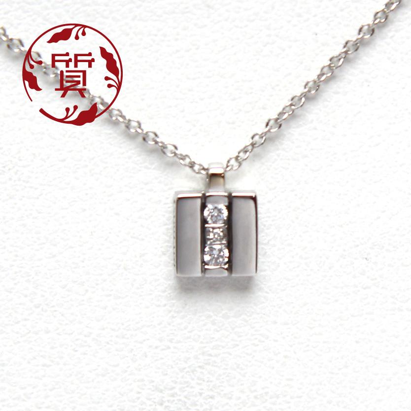 【楠本質店/元住吉】ダミアーニ K18WG ミニシンボリダイヤネックレス 20077903【中古】