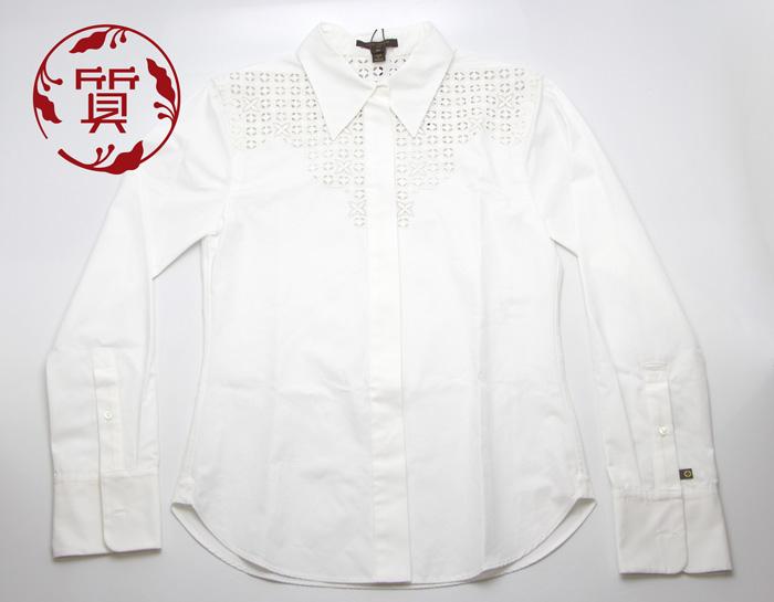 【楠本質店/元住吉】未使用品 ルイヴィトン ブラウス/レディースシャツ 34サイズ ホワイト【中古】