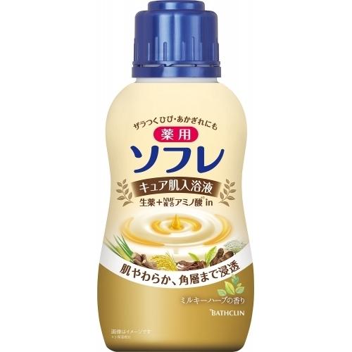 薬用ソフレ キュア肌入浴液 ミルキーハーブの香り 480mL 至上 ランキングTOP5