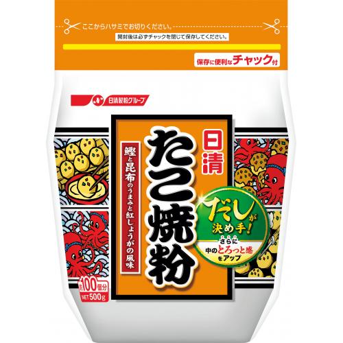 日清フーズ 毎日激安特売で 営業中です 当店限定販売 たこ焼粉 500g×6個