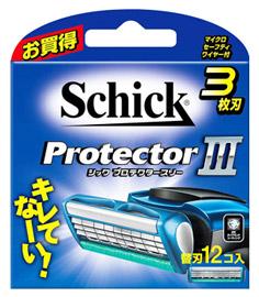 有名な シック 品質検査済 プロテクタースリー 替刃 12個 カミソリ 3枚刃 送料無料 髭剃り smtb-s