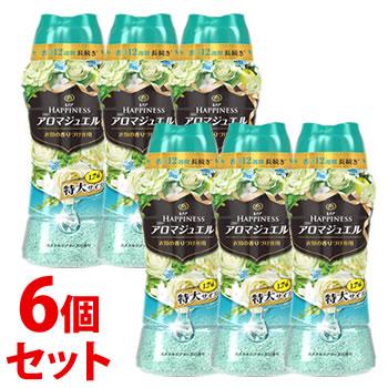 《セット販売》 P&G レノア レノアハピネス アロマジュエル エメラルドブリーズの香り 特大サイズ 本体 (885mL)×6個セット 香りづけ専用ビーズ 【P&G】