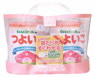雪印ビーンスターク つよいこ 大缶 満9か月頃~3歳頃 有名な 新色追加して再販 フォローアップミルク ベビー粉ミルク 800g×2缶