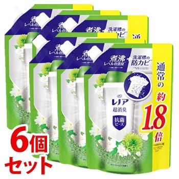 《セット販売》 PG レノア 超消臭 抗菌ビーズ グリーンミストの香り つめかえ用 特大サイズ (760mL)×6個セット 詰め替え用 衣料用消臭剤 【P&G】