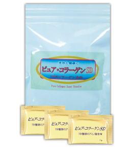 ☆無添加・高純度・低分子の三拍子コラーゲン!東海美商 ピュアコラーゲンSD顆粒 分包タイプ 1g×30包(約1ヶ月分)×3個セット