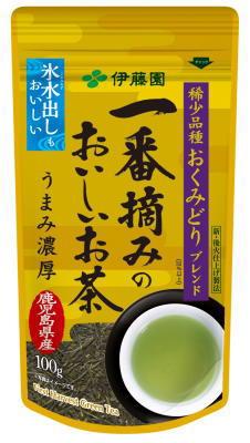 ☆北海道・九州も送料無料!伊藤園 一番摘みのおいしいお茶 おくみどりブレンド 100g×10個セット