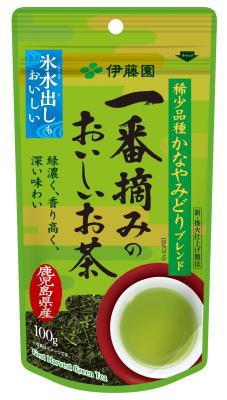☆北海道・九州も送料無料!伊藤園 一番摘みのおいしいお茶 かなやみどりブレンド 100g×10個セット