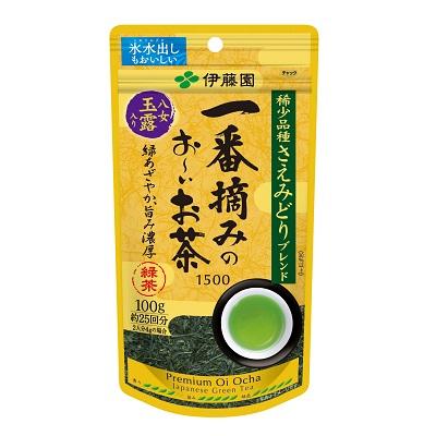 ☆北海道・九州も送料無料!伊藤園 一番摘みのお~いお茶 さえみどりブレンド 100g×10個セット
