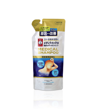 Medical shampoo refill medications-rohto Mentholatum scalp of the media quick H 280 mL * collagefurfurnexto as principal.
