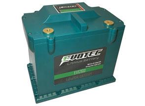 EVOTEC エヴォテック EV-1260 リチウムイオンバッテリー(クルマ用)『エヴォルテックジャパン』の新製品です。エボテック(自動車専用)過放電保護機能+オルタノイズ除去機能付き