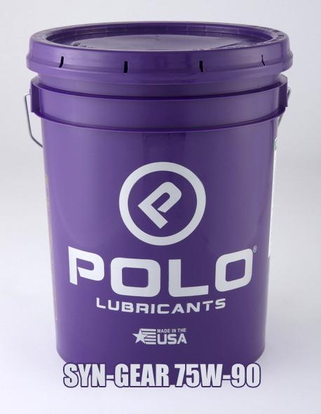 滑らかなシフトフィーリングと優れた耐熱性 耐摩耗性を実現 POLOオイル ポロオイル SYN-GEAR 75W-90 ペール缶 ※ご注文後のキャンセルはご遠慮ください 化学合成油 ポロのギアオイル 高価値 18.9L GL-5シンギアー 注目ブランド