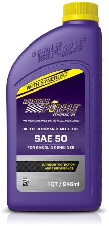 ロイヤルパープルのシングルグレード 強力で厚い油膜がエンジンの気密性を保持 オイル消費を防ぐと共に 完全燃焼を促進 新商品 正規輸入品 ロイヤルパープル シングルグレード SAE50 ROYAL PURPLE SYNTHETIC 0.946L 一般走行用エンジンオイル SYNERLEC OIL 1QT 在庫あり WITH