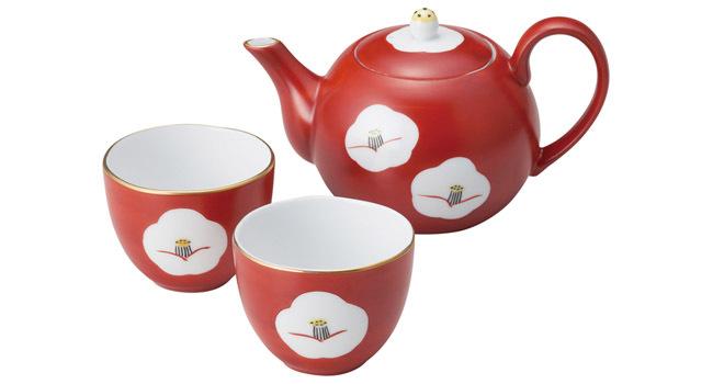 赤椿 茶呑セット