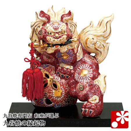 九谷焼 剣獅子 盛(高さ19cm)