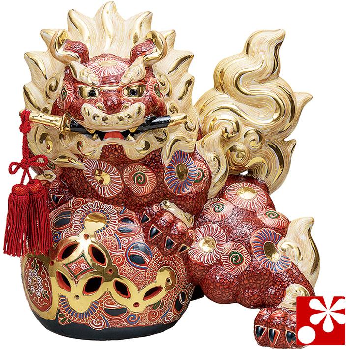 九谷焼 剣獅子 盛(高さ36cm)