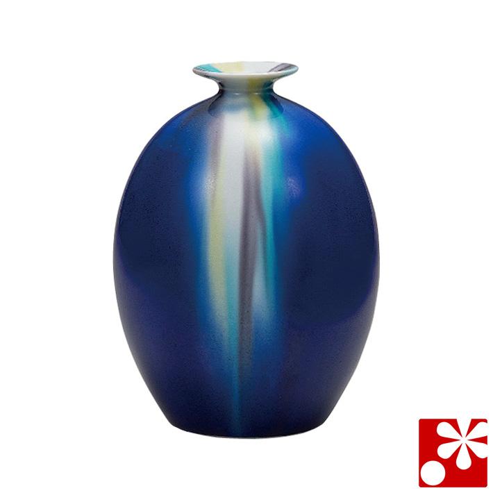 九谷焼 6号 花瓶 釉彩 博峰窯( 大きな サイズ )