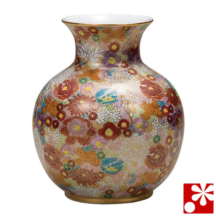 九谷焼 6.5号 花瓶 花詰( 大きな サイズ )