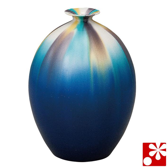 九谷焼 7号 花瓶 釉彩 博峰窯( 大きな サイズ )