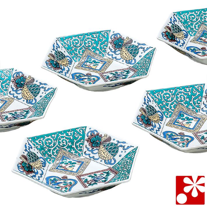 九谷焼 小鉢 5個 セット 色絵花文( 和食器 おしゃれ )