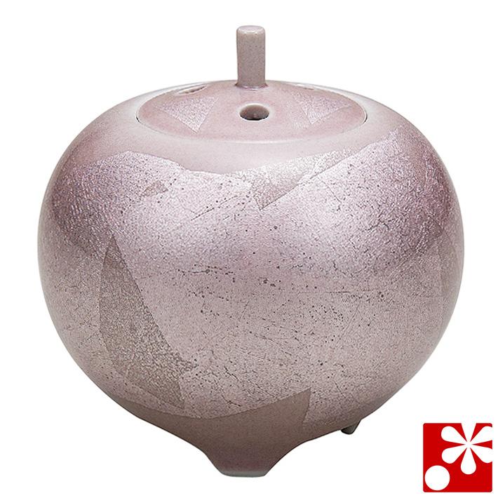 九谷焼 3.5寸 香炉 銀彩( 陶器 かわいい おしゃれ 仏具 アンティーク )