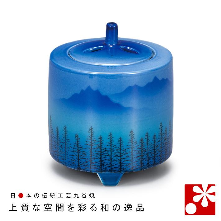 九谷焼 3寸 香炉 連山( 陶器 おしゃれ 仏具 アンティーク )