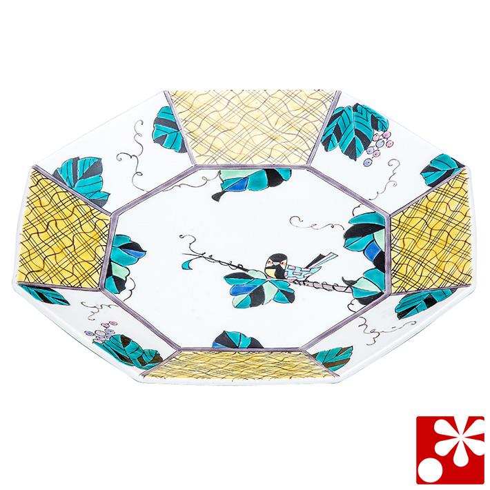 九谷焼 大皿(径 26cm) ぶどうに小鳥(和食器 おしゃれ 食器)