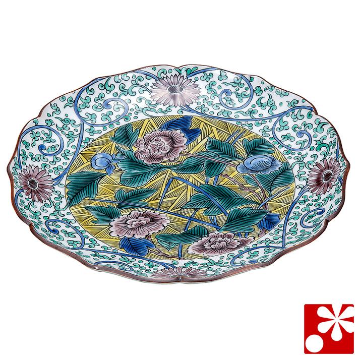 九谷焼 大皿(径 25cm) 古九谷風(和食器 おしゃれ 食器)