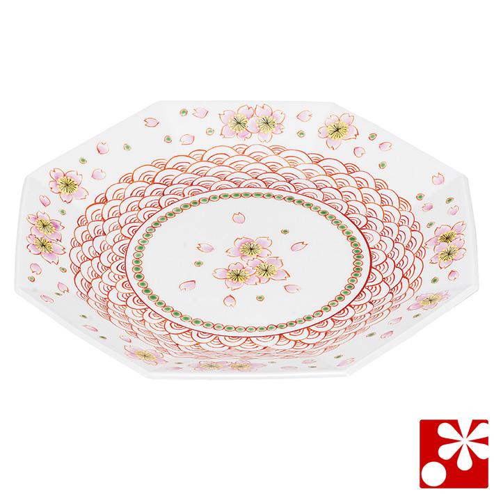 九谷焼 大皿(径 26cm) 赤絵桜(和食器 おしゃれ 食器)