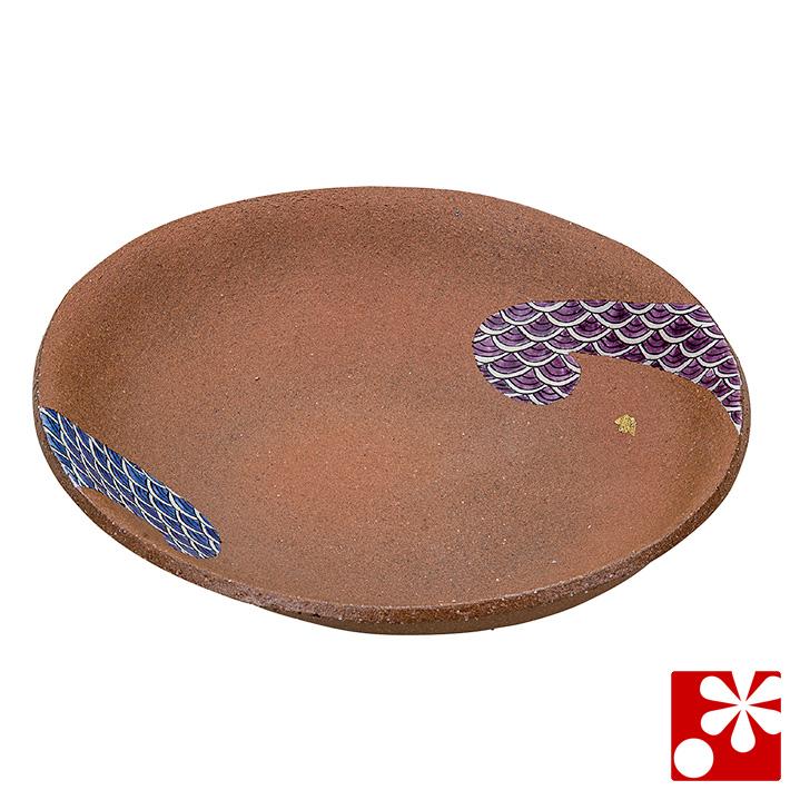 九谷焼 煮物鉢 色絵小紋 柴田博(和食器 楕円鉢)