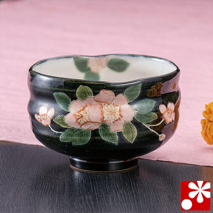 九谷焼 抹茶茶碗 海棠 青良窯 茶道具