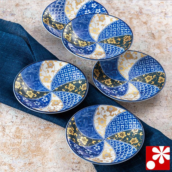 中皿 セット( 径約 16.5cm ) 鉄仙文( 和食器 取り皿 おしゃれ セット オシャレ )