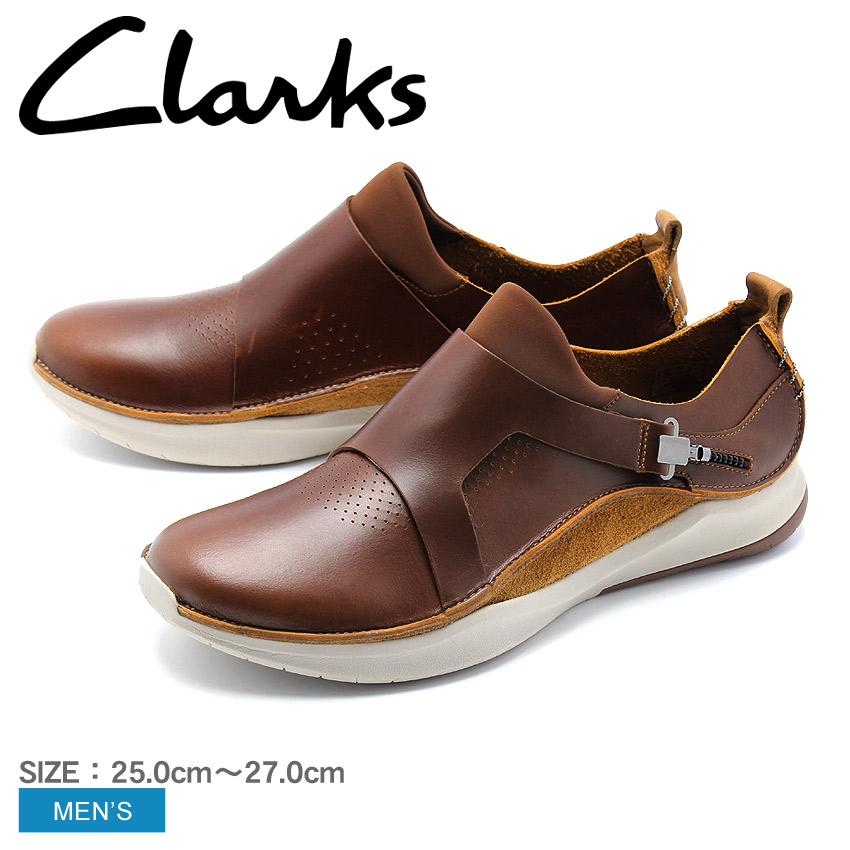 送料無料 クラークス CLARKS プリボルーション M1 スリッポン スニーカー ローカット レザー 革 シューズ 靴 メンズ ブラウン 茶 PRIVOLUTION M1 26136881