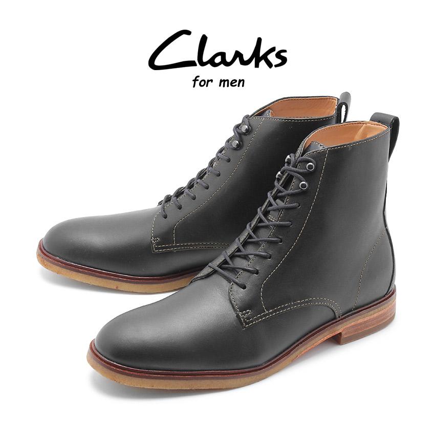 【クリアランスSALE開催中】送料無料 CLARKS クラークス クラークデール リッチ ブーツ メンズ ブラック 黒 靴 シューズ 革靴 レースアップ 8ホール レザー カジュアル CLARKDALE RICH 26136265