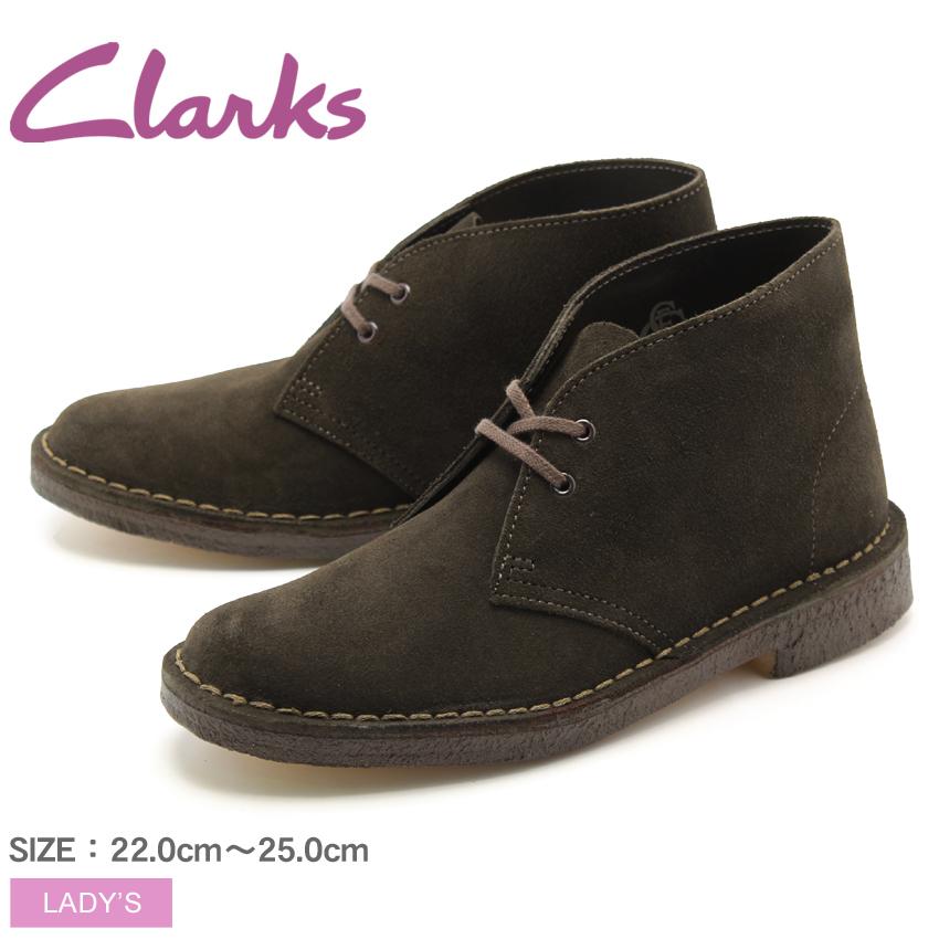 クラークス CLARKS デザートブーツ ブラウン スエード 茶 UK規格 (26107163 DESERT BOOT) くらーくす レディース(女性用) 本革 スウェード シューズ 靴 天然皮革 送料無料