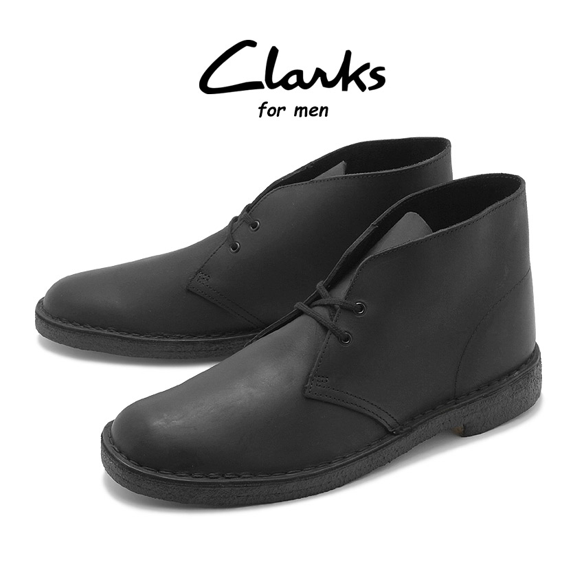 【クーポン配布!スーパーSALE】 クラークス CLARKS デザートブーツ メンズ オイルド レザー 革 カジュアル ブラック 黒 DESERT BOOT 26138226