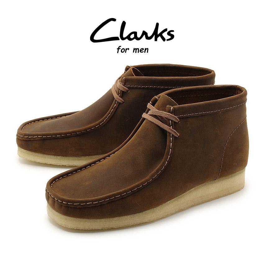 クラークス CLARKS ワラビー ブーツ メンズ レザー 革 モカシン シューズ 靴 ブラウン 茶 WALLABEE BOOT 26134196