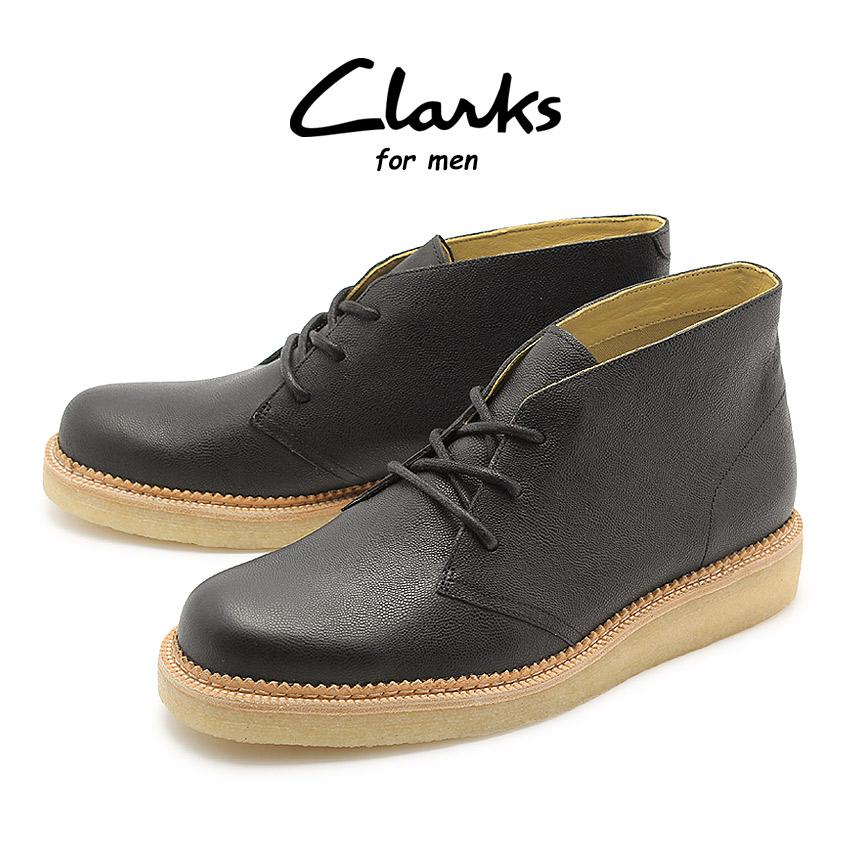【クーポン配布!スーパーSALE】 クラークス CLARKS ベッカリー ヒル ブーツ ブラック レザー UK規格 (26112660 BECKERY HILL) くらーくす メンズ 本革 デザートブーツ シューズ 靴 天然皮革