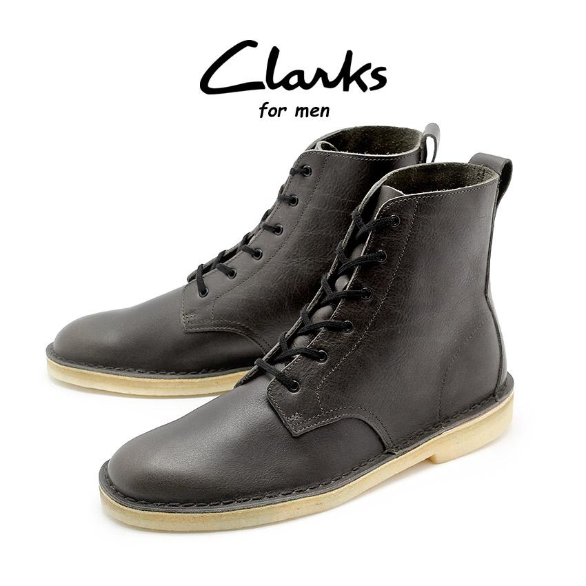 クラークス オリジナルス CLARKS ブーツ デザートマリ メンズ チャコール レザー 靴 天然皮革 本革 レースアップ クレープソール DESERT MALI CHARCOAL LEATHER 26126522