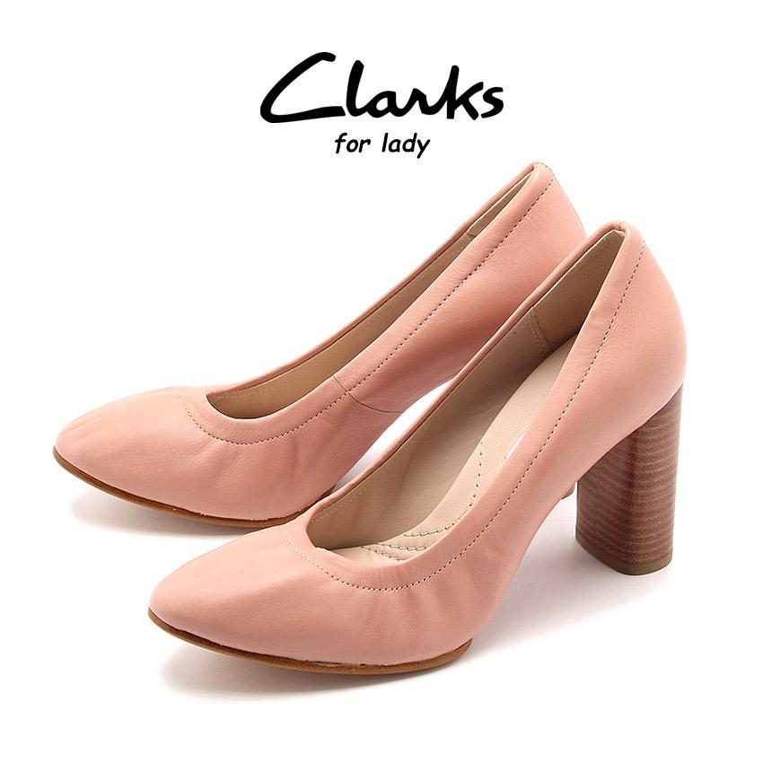 クラークス CLARKS レディース パンプス グレイス エバ ダスティピンクレザー ピンク ラウンドトゥ くらーくす 靴 シューズ 天然皮革 本革 レザー (CLARKS GRACE EVA 26123081)