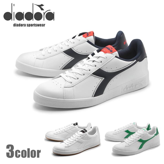 【ファイナルセール中】 ディアドラ diadora メンズ レディース スニーカー DIADORA GAME P ホワイト グリーン 女性 レザー 靴 カジュアル シューズ (DIADORA 101.160281 01 C0657 C1931 C6487)