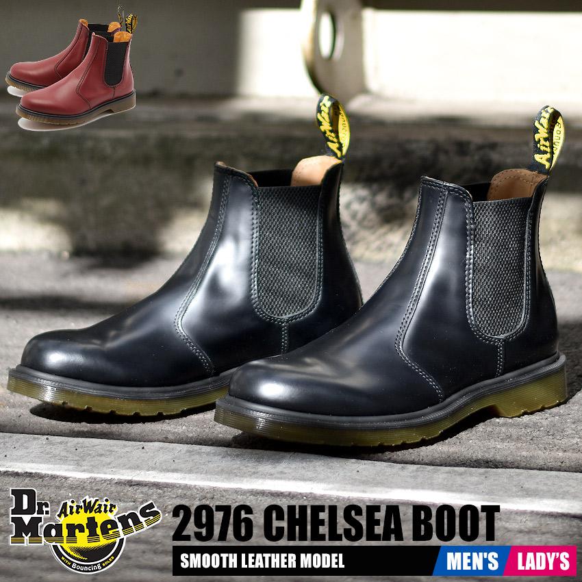 ドクターマーチン Dr.Martens 2976 チェルシー ブーツ メンズ レディース レザー 本革 サイドゴア 女性 ブラック レッド 黒 赤 CHELSEA BOOT 1460 R11853001 R11853600