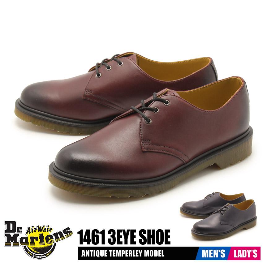 送料無料 ドクターマーチン DR.MARTENS シューズ メンズ レディース ローカット プレーントゥ レザー 革 天然皮革 シューズ 靴 1461 3ホール シューズ ブラック レッド 黒 赤 1461 3EYE SHOE R21153005 R21153600