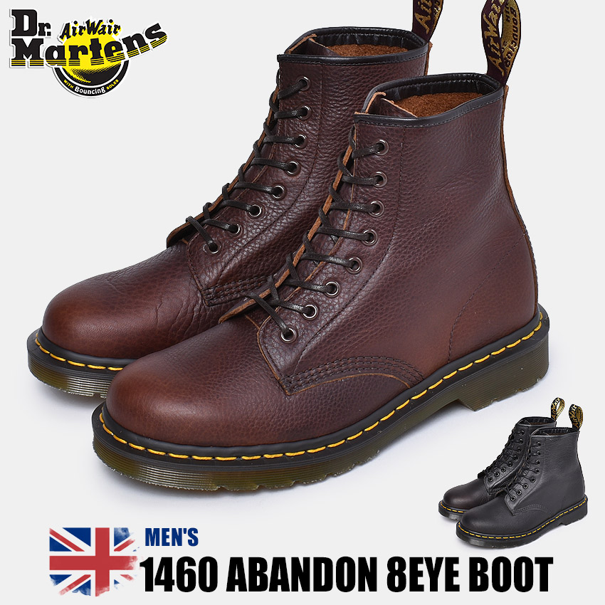 【クーポン配布!スーパーSALE】 ドクターマーチン DR.MARTENS 1460 アバンドン 8ホール ブーツ メンズ ブラック ブラウン 黒 茶 靴 シューズ イギリス イングランド 英国 マーチン ブランド レザー カジュアル おしゃれ ABANDON 8EYE BOOTS 24293001 24294201