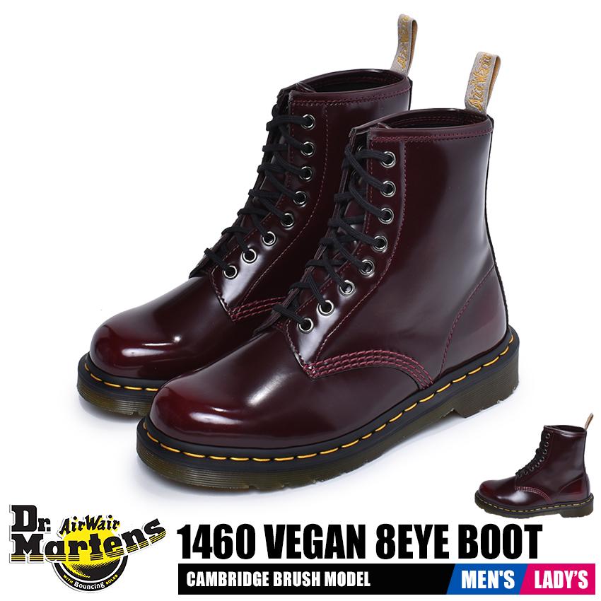 ドクターマーチン DR.MARTENS ビーガン 1460 8ホールブーツ ブーツ メンズ レディース 赤 ワインレッド 靴 シューズ ハイカット マーチン カジュアル レースアップ ロック おしゃれ お揃い 人気 定番 ユニセックス VEGAN 1460 8EYE BOOT 23756600 送料無料