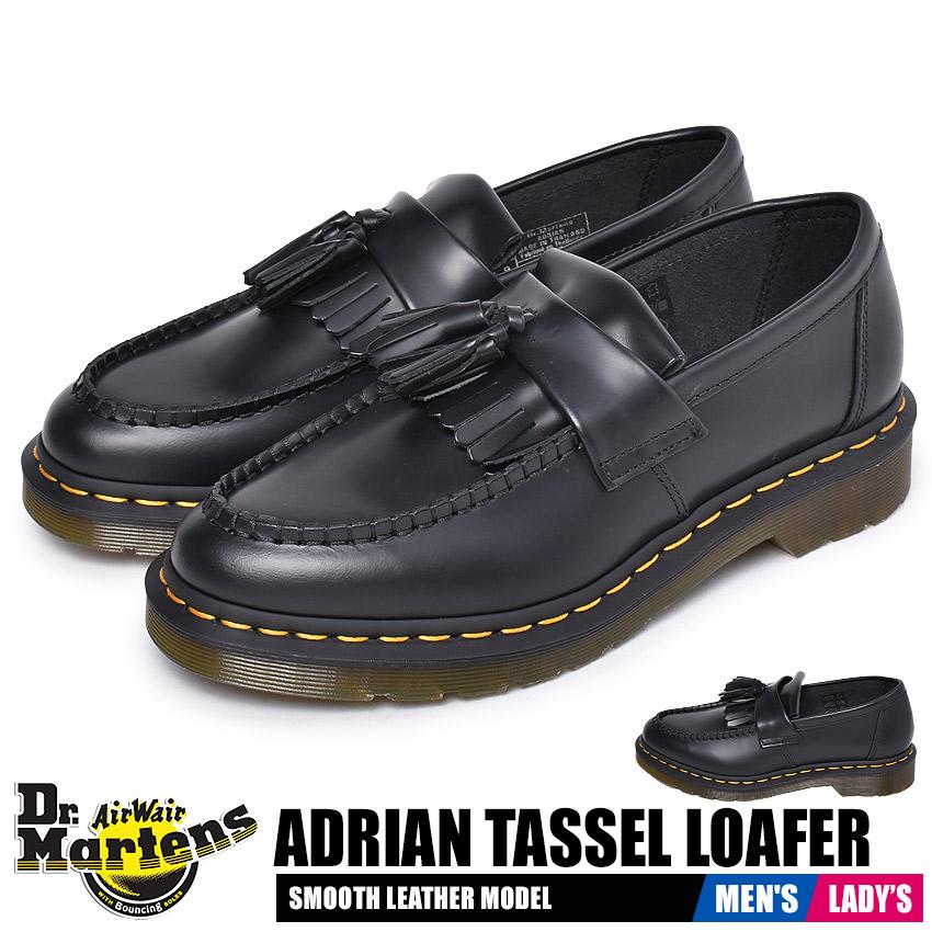 ドクターマーチン ローファー レディース メンズ エイドリアン タッセルローファー ブラック 黒 靴 シューズ カジュアル ローカット タッセル おしゃれ 人気 定番 レザー 天然皮革 DR.MARTENS ADRIAN TASSEL LOAFER 22209001