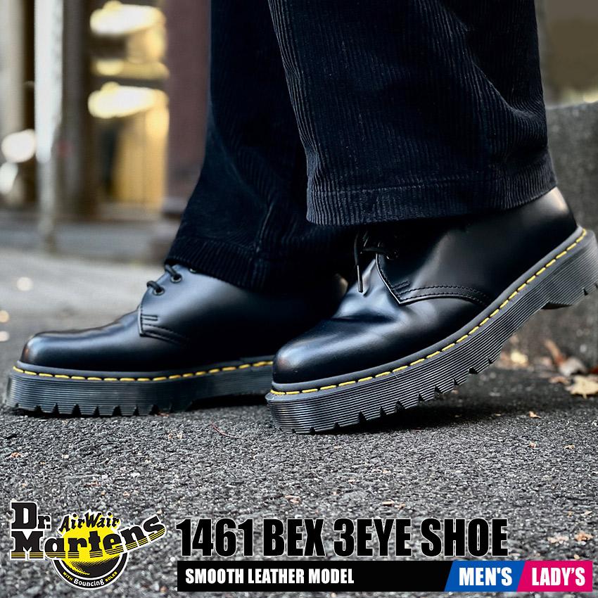ドクターマーチン Dr.Martens メンズ レディース シューズ 1461 BEX 3ホール ブラック 黒 ローカット 厚底 靴 1461 BEX 3 EYE SHOE R21084001 送料無料